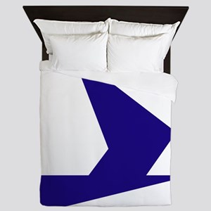 Abstract Blue Bird Queen Duvet