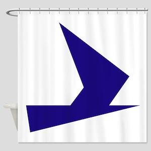 Abstract Blue Bird Shower Curtain