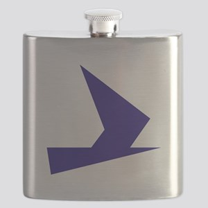 Abstract Blue Bird Flask