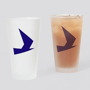 Abstract Blue Bird Drinking Glass