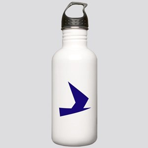 Abstract Blue Bird Water Bottle