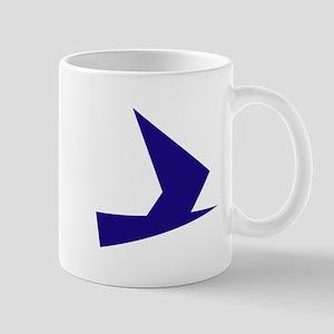 Abstract Blue Bird Mug