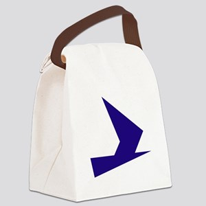 Abstract Blue Bird Canvas Lunch Bag