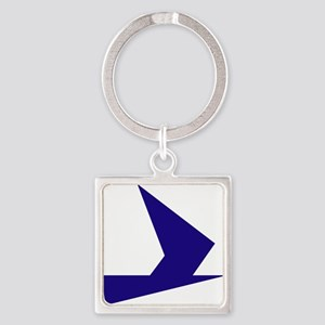 Abstract Blue Bird Keychains