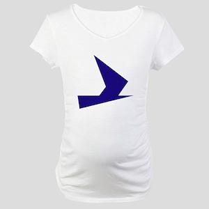 Abstract Blue Bird Maternity T-Shirt