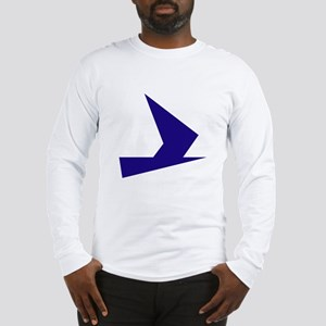Abstract Blue Bird Long Sleeve T-Shirt