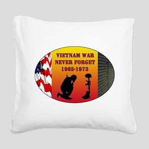 Vietnam War Memorial Square Canvas Pillow