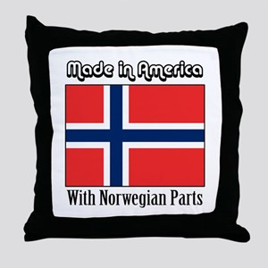 Norwegian Parts Throw Pillow