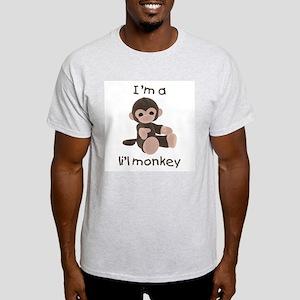 I'm a li'l monkey (brown) Ash Grey T-Shirt