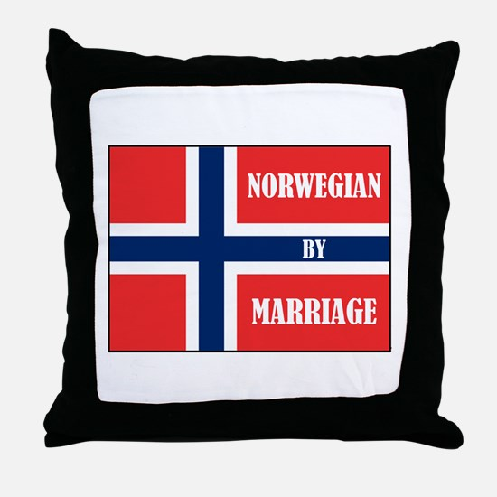 Norwegian by Marriage Throw Pillow