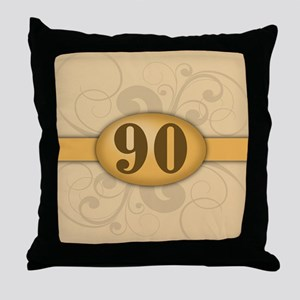 90th Birthday / Anniversary Throw Pillow