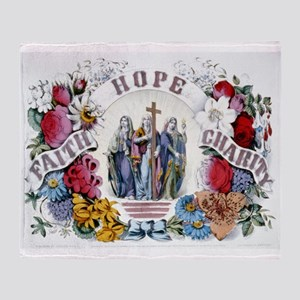 Faith Hope Charity - 1874 Throw Blanket