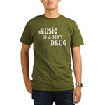 Music Is A Sexy Drug Inspirational Organic Men's T