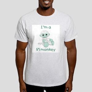 I'm a li'l monkey (green) Ash Grey T-Shirt