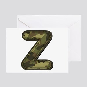 Z Army Greeting Card