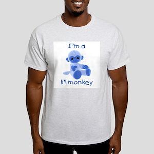 I'm a li'l monkey (blue) Ash Grey T-Shirt