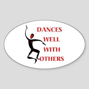 DANCES WELL Oval Sticker