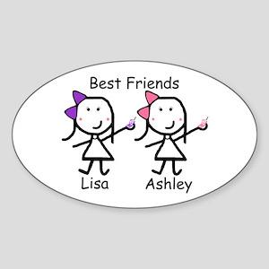 Phones - Best Friends Oval Sticker