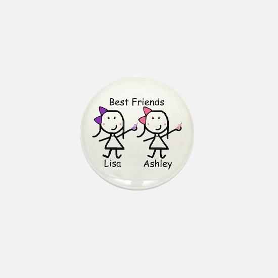 Phones - Best Friends Mini Button