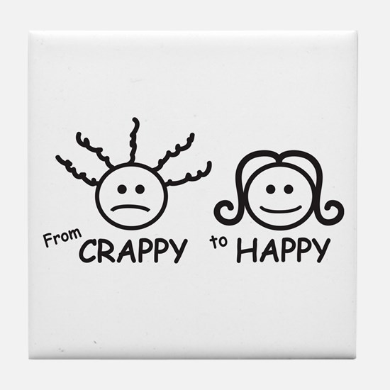 From Crappy to Happy Tile Coaster