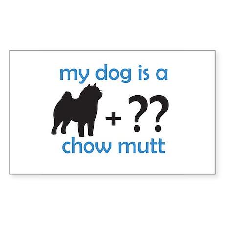 Chow Mutt Rectangle Sticker