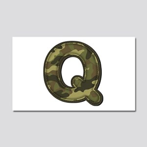 Q Army 20x12 Car Magnet