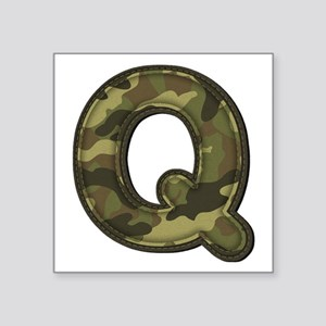 Q Army Square Sticker