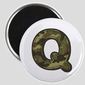 Q Army Round Magnet
