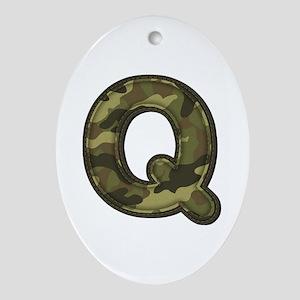 Q Army Oval Ornament