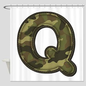 Q Army Shower Curtain