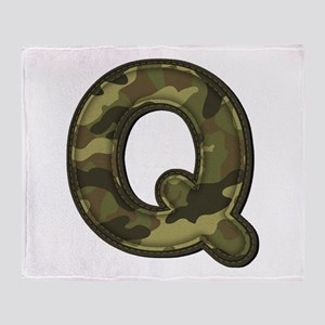 Q Army Throw Blanket
