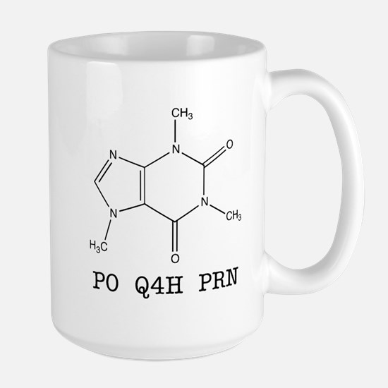 Large Mug - Caffeine Molecule Prescription