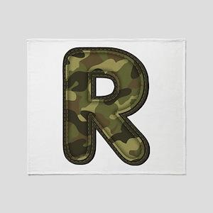 R Army Throw Blanket