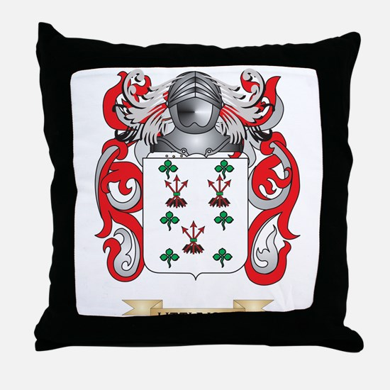 Littlejohn Coat of Arms - Family Crest Throw Pillo
