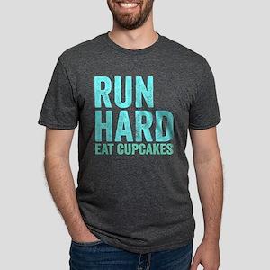 Run Hard Eat Cupcakes Mens Tri-blend T-Shirt
