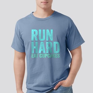 Run Hard Eat Cupcakes Mens Comfort Colors Shirt