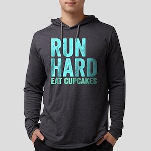 Run Hard Eat Cupcakes Mens Hooded Shirt
