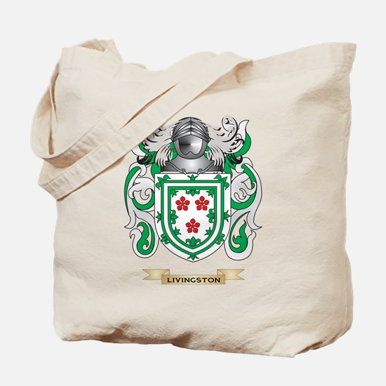 Livingston Coat of Arms - Family Crest Tote Bag