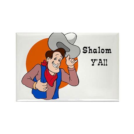 Shalom YAll Rectangle Magnet