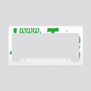 Jew Tee Logo- Green on Black License Plate Holder