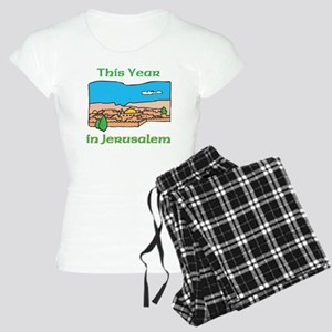 This Year- Jerusalem WHITE Women's Light Pajamas