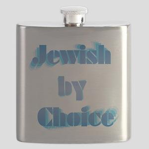 JewishByChoice-blue Flask