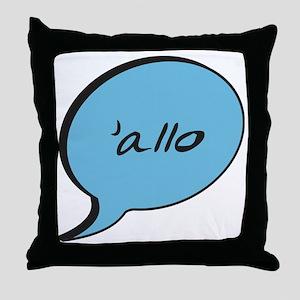 Allo-White Throw Pillow