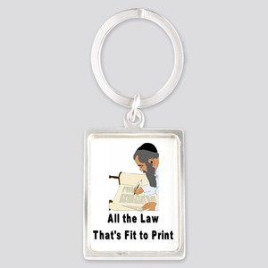 All the Law Print Portrait Keychain