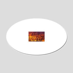 Sunrise Glory 20x12 Oval Wall Decal