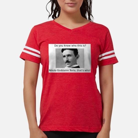 Cute Nikola tesla Womens Football Shirt
