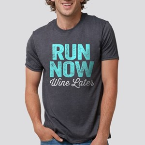 Run Now Wine Later Mens Tri-blend T-Shirt