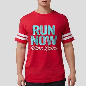 Run Now Wine Later Mens Football Shirt