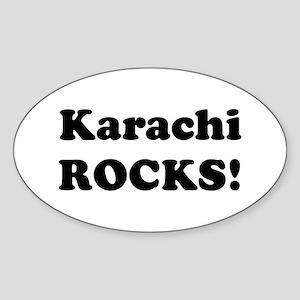Karachi Rocks! Oval Sticker