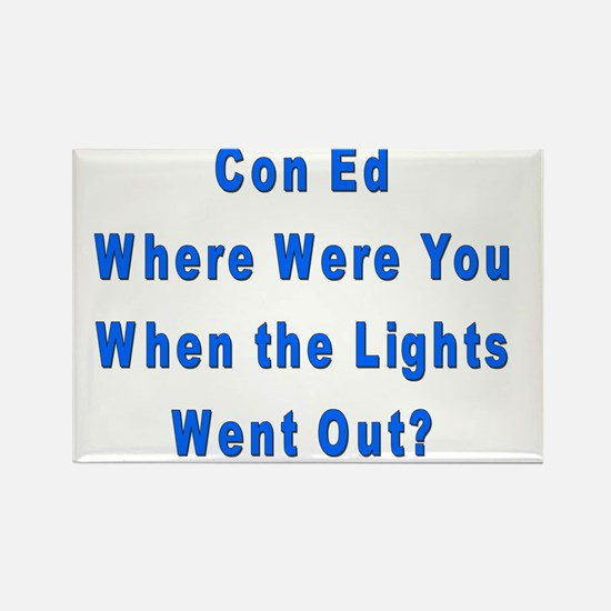 Con Ed Lights Rectangle Magnet